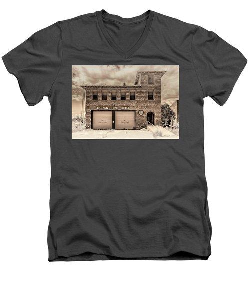 Duran Fire Dept Men's V-Neck T-Shirt