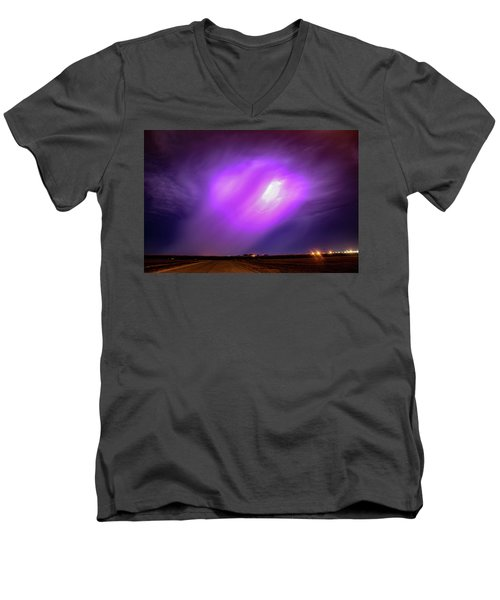 Dying Late Night Supercell 016 Men's V-Neck T-Shirt
