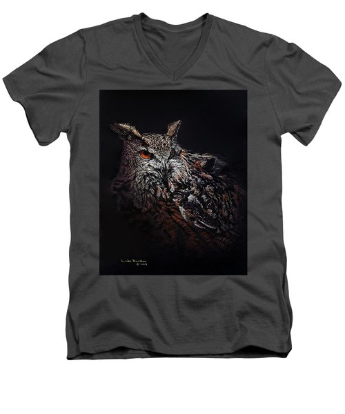 Eagle Owl Men's V-Neck T-Shirt