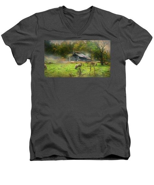 Early Morning Grazing Men's V-Neck T-Shirt