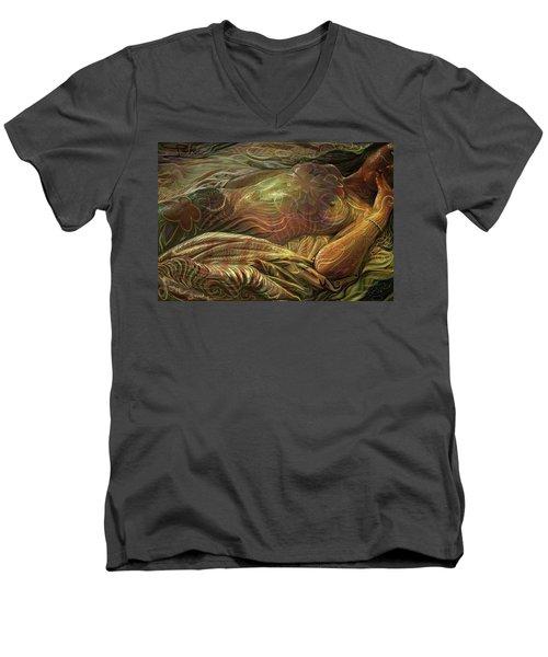 Earth Evening Men's V-Neck T-Shirt