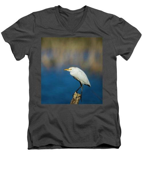 Egret On A Stick Men's V-Neck T-Shirt