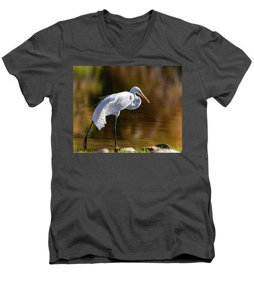 Egret Yoga Men's V-Neck T-Shirt