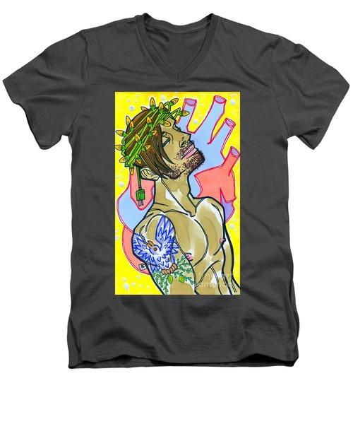 Electric Savior Men's V-Neck T-Shirt
