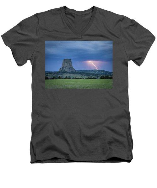 Electrifying Night Men's V-Neck T-Shirt