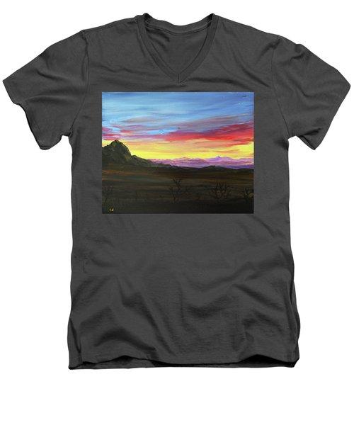 Elephant Head Twilight  Men's V-Neck T-Shirt