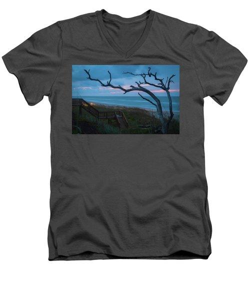 Emerald Isle Obx - Blue Hour - North Carolina Summer Beach Men's V-Neck T-Shirt
