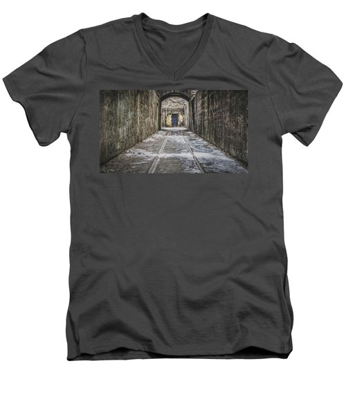 End Of The Tracks Men's V-Neck T-Shirt