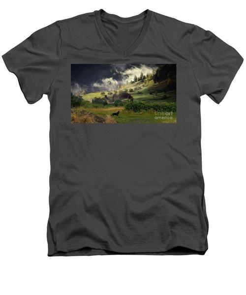 English Courtryside Men's V-Neck T-Shirt