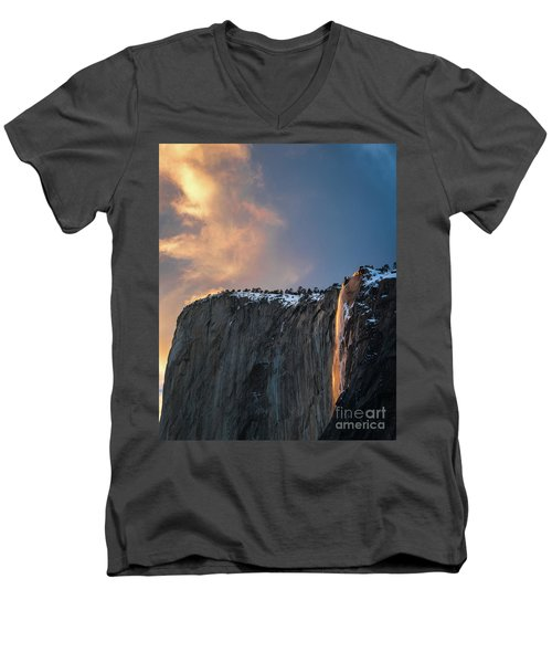 Men's V-Neck T-Shirt featuring the photograph Epic Sunset by Vincent Bonafede