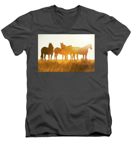 Equine Glow Men's V-Neck T-Shirt