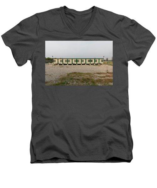 Euro New Topographics 14 Men's V-Neck T-Shirt