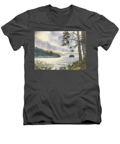 Evening On Derwentwater Men's V-Neck T-Shirt