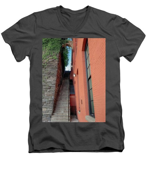 Exorcist Stairs Beauty Men's V-Neck T-Shirt