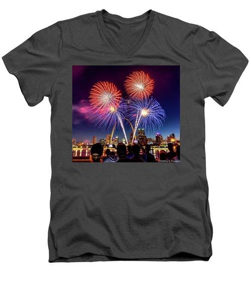 Fair St. Louis Fireworks 6 Men's V-Neck T-Shirt