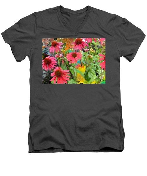 Fairy Among The Flowers Men's V-Neck T-Shirt