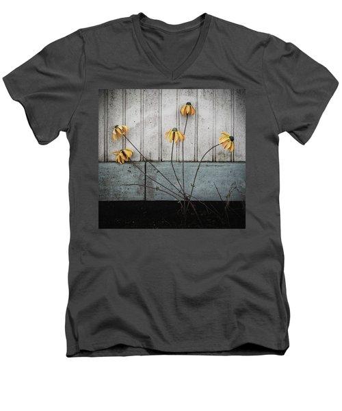 Fake Wilted Flowers Men's V-Neck T-Shirt