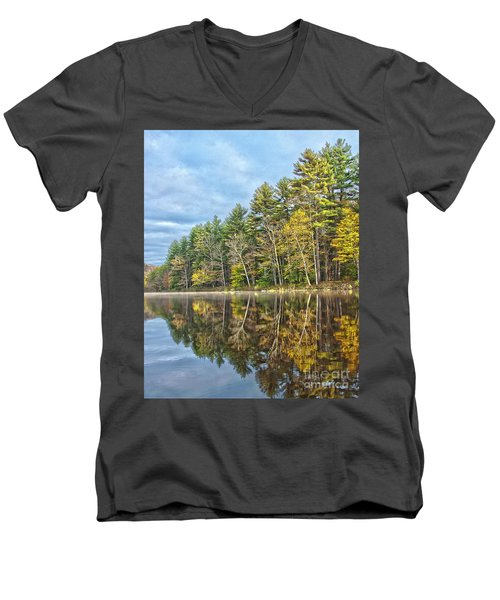 Fall Reflection Men's V-Neck T-Shirt