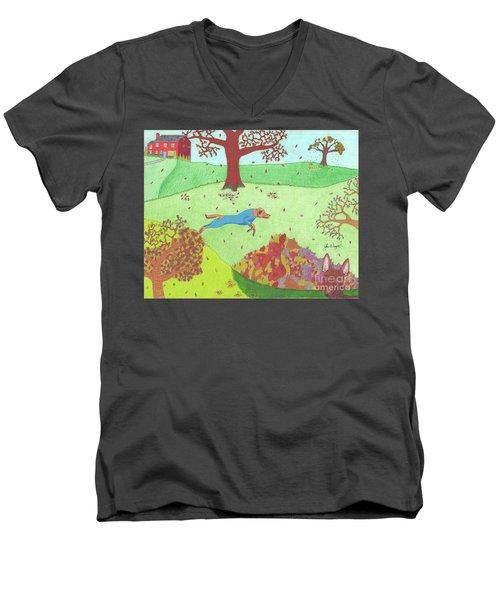 Falling Leaves Men's V-Neck T-Shirt