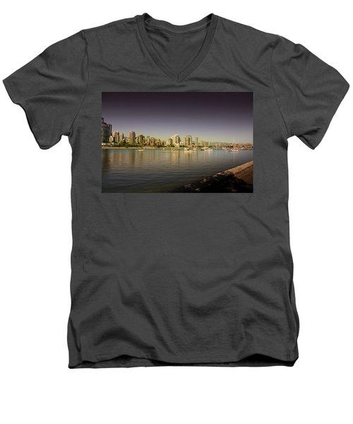 False Creek Golden Hour Men's V-Neck T-Shirt