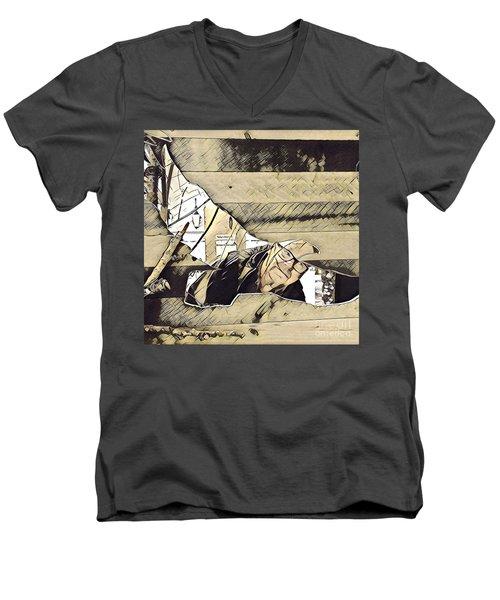Fantasy Of Flight Men's V-Neck T-Shirt