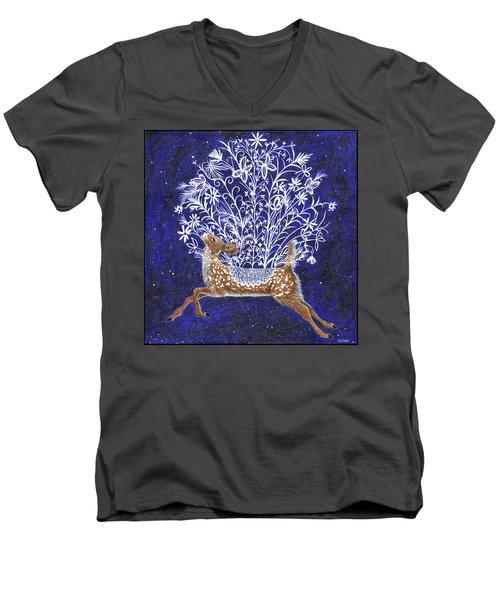 Fawn Bouquet Men's V-Neck T-Shirt