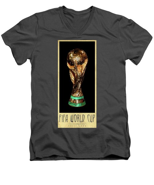 Fifa World Cup Trophy Men's V-Neck T-Shirt