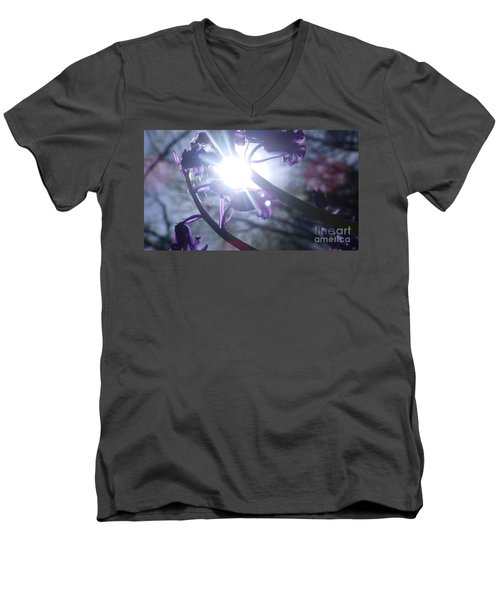 Fine Art Bluebells Photo 1 Men's V-Neck T-Shirt