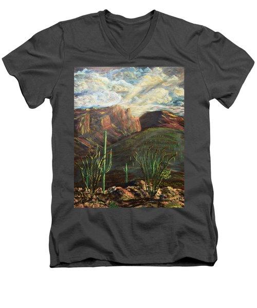 Finger Rock Morning Men's V-Neck T-Shirt