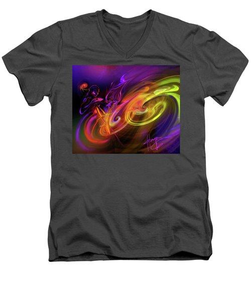 Cellist In Space Men's V-Neck T-Shirt