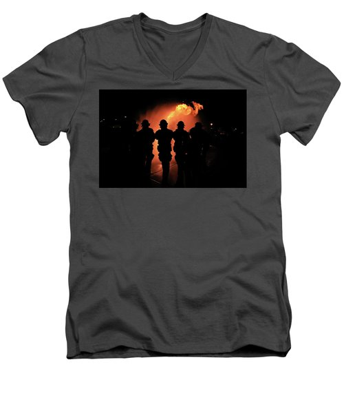 Fire Dragon Men's V-Neck T-Shirt