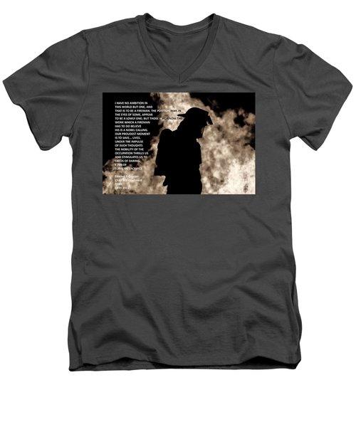 Firefighter Poem Men's V-Neck T-Shirt