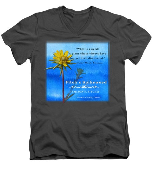 Fitch's Spikeweed Men's V-Neck T-Shirt