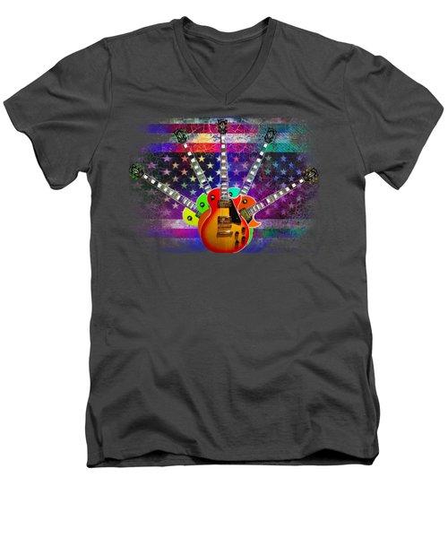 Five Guitars Men's V-Neck T-Shirt