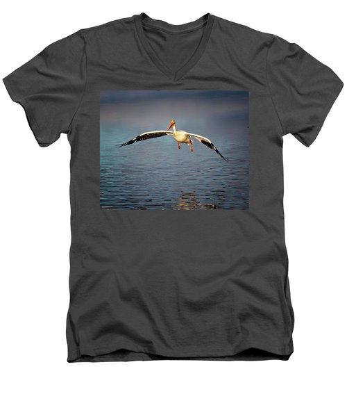 Flaps Down Men's V-Neck T-Shirt