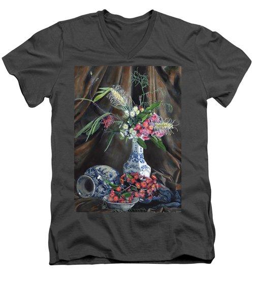 Floral Arrangement Men's V-Neck T-Shirt