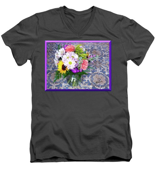Flower Bouquet  Men's V-Neck T-Shirt