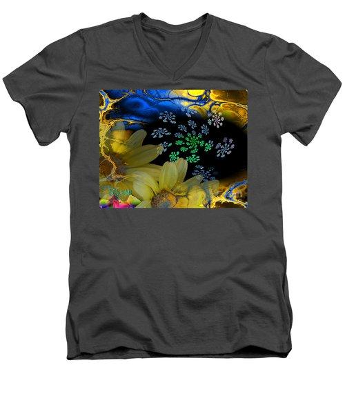 Flower Power In The Modern Age Men's V-Neck T-Shirt