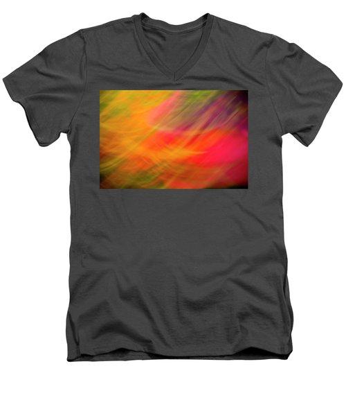 Flowers In Abstract Men's V-Neck T-Shirt