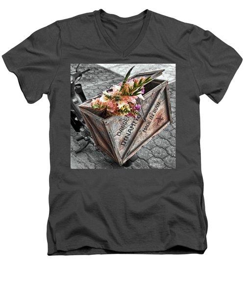 Flowers Or Dynamite Men's V-Neck T-Shirt