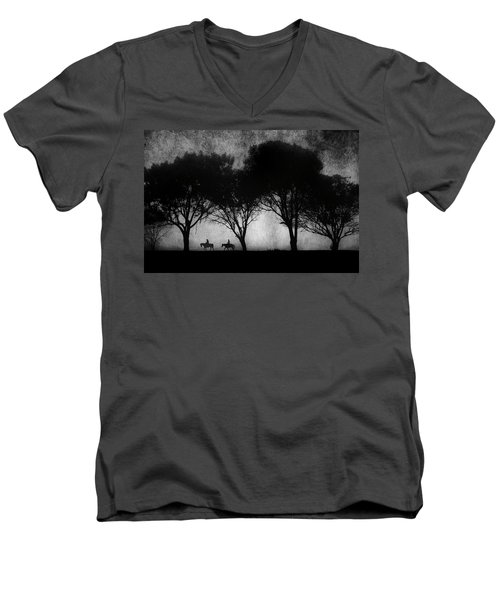 Foggy Morning Ride Men's V-Neck T-Shirt