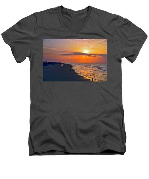 Folly Beach Sunrise Men's V-Neck T-Shirt