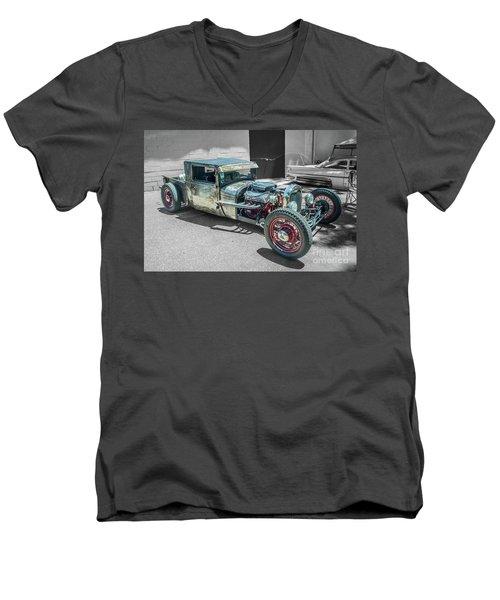 Ford Rat Rod Men's V-Neck T-Shirt