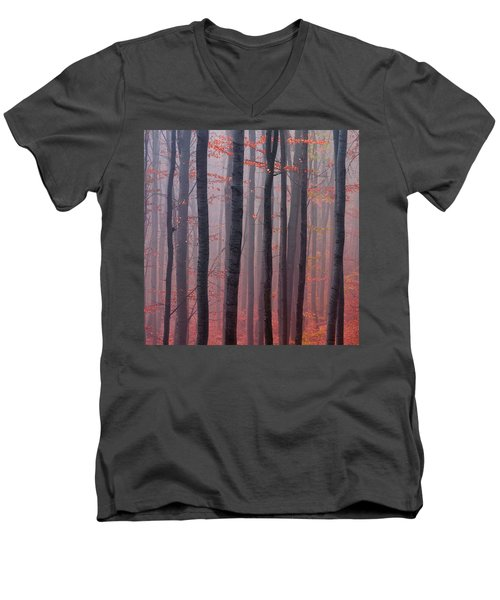 Forest Barcode Men's V-Neck T-Shirt