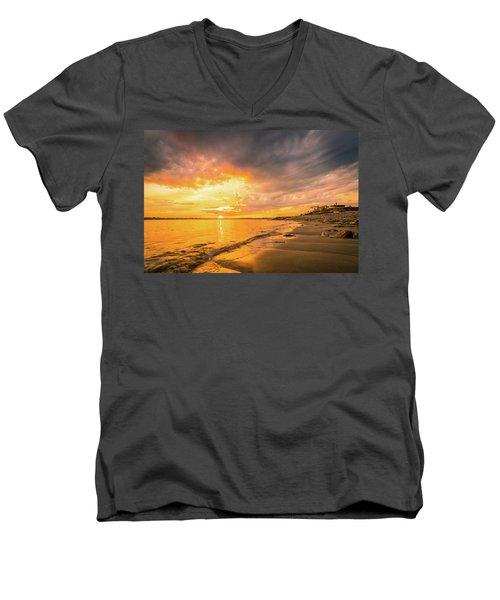 Fort Foster Sunset Watchers Club Men's V-Neck T-Shirt