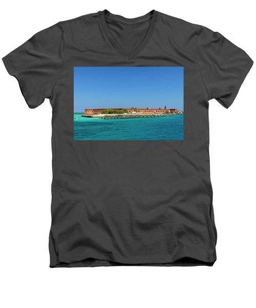 Fort Jefferson, Dry Tortugas National Park Men's V-Neck T-Shirt