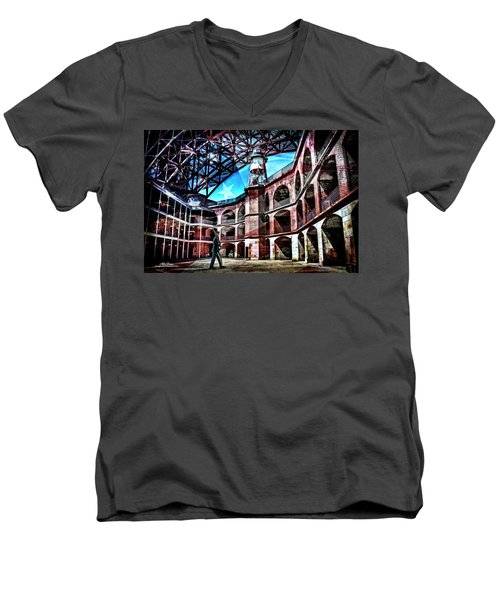 Fort Point Men's V-Neck T-Shirt
