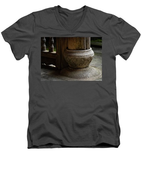 Foundation Stone Under Wooden Pole Used In Chinese Architecture Men's V-Neck T-Shirt