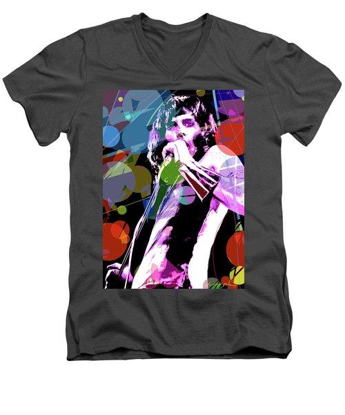 Freddy Mercury Queen Men's V-Neck T-Shirt