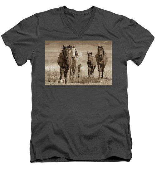Free Family Men's V-Neck T-Shirt